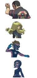 2boys 2girls character_request minun multiple_boys multiple_girls npc_trainer official_art plusle pokemon pokemon_oras tagme wetsuit