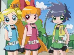3girls animated animated_gif blossom bubbles buttercup multiple_girls powerpuff_girls_z