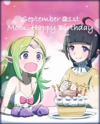 birthday birthday_cake cake candle dated fire_emblem fire_emblem:_kakusei food happy_birthday mother_and_daughter nn_(fire_emblem) nono_(fire_emblem) pastry sasakimuu