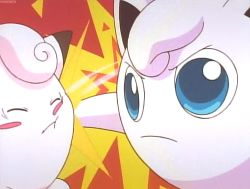 animated animated_gif clefairy emphasis_lines fighting jigglypuff no_humans pokemon tagme