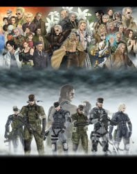 6+boys 6+girls absolutely_everyone amanda_valenciano_libre assault_rifle big_boss cecile_cosina_caminades emma_emmerich eva_(mgs) everyone flower frank_jaeger gray_fox gun hal_emmerich handgun headband hideo_kojima highres holster hot_coldman huey_(metal_gear) kazuhira_miller kojima_hideo_(person) konami lily_(flower) liquid_snake load_bearing_vest m1911 m4_carbine major_zero meryl_silverburgh metal_gear_(series) metal_gear_solid metal_gear_solid_2 metal_gear_solid_3 metal_gear_solid_4 metal_gear_solid_peace_walker metal_gear_solid_v multiple_boys multiple_girls multiple_persona naked_snake naomi_hunter old_snake para-medic_(mgs3) paramedic paz_ortega_andrade raiden ramon_galvez_mena revolver_ocelot rifle roy_campbell solid_snake solidus_snake strangelove sunny_gurlukovich suppressor tera_(no_reason) the_boss the_end the_fear the_fury the_pain the_sorrow thigh_holster vamp venom_snake volgin weapon yevgeny_borisovitch_volgin