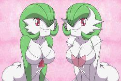 2girls breasts gardevoir large_breasts mega_gardevoir multiple_girls pokemon tagme