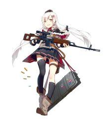 1girl garter girls_frontline gun panties thighhighs uniform