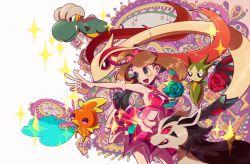 alternate_costume artist_request bagon haruka_(pokemon) haruka_(pokemon)_(remake) mightyena milotic pokemon pokemon_(game) pokemon_oras rose roselia sparkles torchic