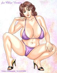 bikini breasts d_lovers gigantic_breasts huge_breasts looking_at_viewer nishimaki_tohru