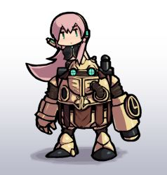 1girl blueberry_(5959) chrono_trigger crossover megurine_luka parody pink_hair robo thighhighs vocaloid