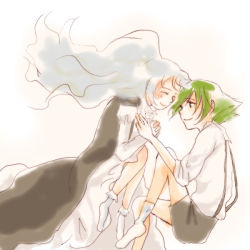 1boy 1girl couple iron_maiden_jeanne lyserg_diethel shaman_king