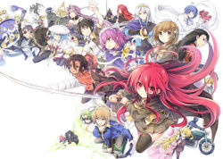 6+boys 6+girls alastor_(shakugan_no_shana) bel_peol book character_request chiara_toscana everyone hecate johan khamsin_nbh'w margery_daw mathilde_saint-omer merihim motor_vehicle motorcycle multiple_boys multiple_girls pheles rebecca_reed robot sairei_no_hebi sakai_yuuji school_uniform serafuku shakugan_no_shana shana simple_background sword sydonay tachitsu_teto vehicle weapon wilhelmina_carmel yoshida_kazumi