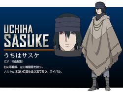 1boy character_name headband heterochromia naruto naruto:_the_last official_art poncho solo uchiha_sasuke