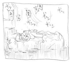 1boy 1girl barefoot bed couple feet fire_emblem fire_emblem:_rekka_no_ken hector hetero hug kiss kyouno_aki leg_lock lyndis_(fire_emblem) missionary moaning monochrome nintendo nude sex sketch tagme text