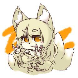 artist_request blonde_hair fox furry short_hair twintails