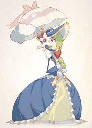 alternate_costume bow dress gardevoir green_hair no_humans parasol pokemon pokemon_(game) pokemon_oras red_eyes sally_(yuki-menoko)