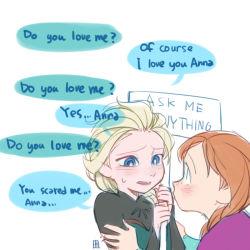 2girls a-ka anna_(frozen) elsa_(frozen) english frozen_(disney) incest multiple_girls siblings sisters yuri