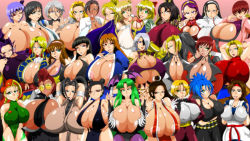 artist_kaiman breasts dead_or_alive gigantic_breasts helena_douglas huge_breasts king_of_fighters large_breasts multiple_girls soul_calibur street_fighter tight tina_armstrong