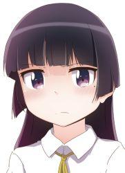 1girl black_hair gokou_ruri long_hair ore_no_imouto_ga_konna_ni_kawaii_wake_ga_nai purple_eyes school_uniform solo suzumeko
