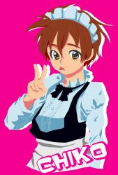 1boy boku_no_pico chico crossdressing maid simple_background tagme tongue trap