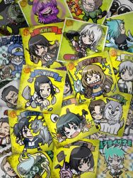 6+boys 6+girls beard bikkuriman black_hair blonde_hair blue_eyes blue_hair book bottle bow bowtie braid brown_eyes brown_hair card card_(medium) character_name chibi chimera_(coppelion) coat coppelion dr_coppelius electricity everyone evil_grin evil_smile facial_hair fang fire food fukasaku_aoi glasses green_eyes grey_hair grin gun hood hoodie ibuse ichikawa_meisa ingmar itami_setsuna kurosawa_haruto long_hair m_o_(prftz) miniskirt mishima_onihei mizoguchi_ryouga mizoguchi_touma monster multiple_boys multiple_girls mushanokouji mustache mutant naruse_ibara natsume_hachirou necktie nomura_taeko onigiri open_mouth ougai_masamune ozu_kanon ozu_shion parody plaid plaid_skirt pleated_skirt rock school_uniform silver_hair skirt smile striped striped_necktie stuffed_animal stuffed_bunny stuffed_toy tripping tsuburaya_mana visor_cap weapon wolf yamada_kiara