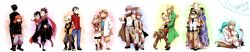 2011 3girls 6+boys ai2 ai_(pokemon) akasata alternate_costume anzu_(pokemon) back-to-back blush dated facial_hair father_and_daughter father_and_son flower fuji_(pokemon) geechisu_(pokemon) glasses goatee haruka_(pokemon) hat highres hyouta_(pokemon) jun_(pokemon) kurotsugu_(pokemon) kyou_(pokemon) long_image mewtwo multiple_boys multiple_girls n_(pokemon) ninja nintendo odamaki_(pokemon) poke_ball pokemon pokemon_(anime) pokemon_(game) pokemon_bw pokemon_dppt pokemon_gsc pokemon_rse rose sakaki_(pokemon) scarf senri_(pokemon) shorts shovel silver_(pokemon) spoilers sweatdrop tougan_(pokemon) white_background wide_image winter_clothes worktool yuuki_(pokemon)
