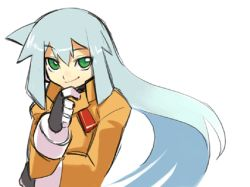 animated animated_gif ashe capcom green_eyes grey_hair lowres rockman rockman_zx
