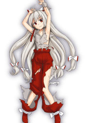 1girl abe_ranzu fujiwara_no_mokou long_hair red_eyes touhou very_long_hair