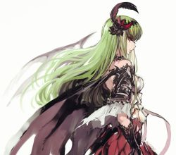 armor c.c. code_geass creayus gloves granblue_fantasy green_eyes hair_ornament jeanne_d'arc_(granblue_fantasy) jeanne_d'arc_(granblue_fantasy)_(cosplay) wings yellow_eyes