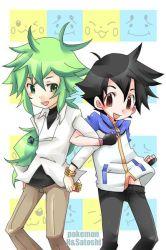 2boys multiple_boys n_(pokemon) pokemon pokemon_(anime) satoshi_(pokemon)