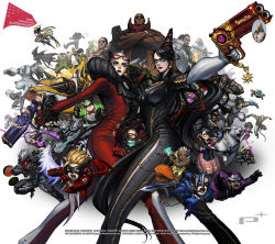 6+boys 6+girls age_difference ahoge ai_rin anniversary annotated arm_strap armor avatar:_the_last_airbender bayonetta bayonetta_(character) bayonetta_2 beard big_bull_crocker black_baron black_hair blacker_baron blonde_hair blue_eyes blue_hair bodysuit bow bowtie brass_knuckles breasts buckle card cereza chainsaw character_request chibi claw_(weapon) company_connection cornrows crossed_arms crossover dark_skin domino_mask dual_wielding durga_(max_anarchy) earrings edgar_oinkie electricity english enzo everyone eyelashes facial_hair feathers finger_on_trigger fingerless_gloves food foreshortening fruit fur_trim glasses gloves glowing glowing_eyes goggles goggles_on_head green_hair gun hair_ribbon handgun hat headset helmet highres horns immorta infinite_space jack_cayman jeanne_(bayonetta) jewelry jumping korra legs_apart leonhardt_victorion lips lipstick logo loki_(bayonetta) long_hair looking_at_viewer luka_redgrave madworld makeup mask mathilda mathilda_(madworld) max_anarchy maximillian_caxton metal_gear_(series) metal_gear_rising:_revengeance mole mole_under_mouth mugen_kouro multicolored_hair multiple_boys multiple_girls muscle naga_(avatar) necklace nikolai_dmitri_bulygin official_art open_mouth outstretched_arm pink_skin platinum_games platinumgames_inc. ponytail power_armor purple_hair raiden red_eyes red_lipstick ribbon riding rifle robot rodin sam_gideon senator_armstrong sheath sheathed short_hair side_slit simple_background skull spiked_hair standing streaked_hair sunglasses sunglasses_on_head sword tattoo the_legend_of_korra the_wonderful_101 torn_clothes two-tone_hair vanquish vanquish_(game) very_long_hair wallpaper watermelon weapon white_background white_hair wonder_black wonder_blue wonder_director wonder_green wonder_pink wonder_red wonder_white wonder_yellow yuri_(infinite_space) yuri_(mugen_kouro) zero_(max_anarchy)