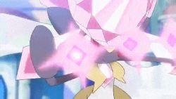 animated animated_gif battle diancie gallade mega_diancie mega_gallade mega_pokemon no_humans pokemon pokemon_(game) pokemon_oras