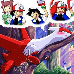 g-sun kanon_(pokemon) latias latios lowres nintendo pokemon satoshi_(pokemon)