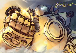 blitzcrank league_of_legends nam_(valckiry) no_humans robot spikes