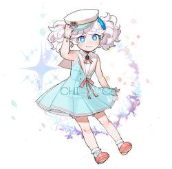 1girl blue_eyes chiliarch_(elsword) elsword luciela_r._sourcream pigtails sailor solo tsuji_(ksi03164) white_hair