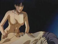 1boy 1girl anal animated animated_gif bondage bound breasts chimera_angel_of_death domination femdom futa_with_male futanari nipples nude pegging rape short_hair