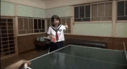 1girl animated animated_gif discreet_vibrator japanese photo ping_pong sailor_uniform school_uniform serafuku sexually_suggestive skirt vibrator