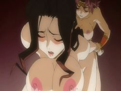2girls angel_blade animated animated_gif blush breasts futa_with_female futanari huge_breasts karin_(angel_blade) kyoka_(angel_blade) moaning multiple_girls nipples nude penetration sex vaginal