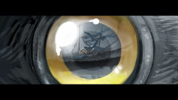 bird building eyeball highres looking_at_viewer pixiv_fantasia pixiv_fantasia_fallen_kings reflection yellow_sclera yuushoku