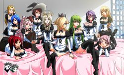 6+girls blonde_hair blue_eyes breasts brown_eyes brown_hair c.c. cleavage code_geass conception_2 crossover dead_or_alive emerina erza_scarlet fairy_tail feene_glass fire_emblem fire_emblem:_kakusei green_eyes green_hair harem helena_douglas jadenkaiba juvia_loxar large_breasts lisbeth maid mario_(series) miriel_(fire_emblem) multiple_girls olivia_(fire_emblem) purple_hair red_hair rosalina_(mario) rosario+vampire shirayuki_mizore super_mario_bros. super_mario_galaxy sword_art_online yellow_eyes