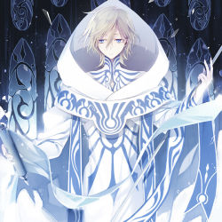 1boy blonde_hair blue_eyes fay_d_flourite gloves male maro_(nikeneko523) short_hair solo tsubasa_chronicle