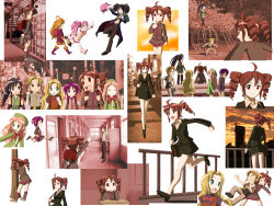 2boys 6+girls amane_luna black_hair blonde_hair collage drill_hair fuuga_koto haruka_nana highres kagamine_len kasane_ted kasane_teto luna_amane megurine_luka momone_momo multiple_boys multiple_girls nagone_mako necktie poorly_drawn red_hair short_hair suica_sora suiga_sora twintails utane_uta utau vocaloid yokune_ruko
