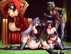 5girls areolae bdsm black_hair blue_hair blush bondage boots breasts chin_rest cinder_fall collar corset dark_skin dildo dominatrix elbow_gloves emerald_sustrai femdom gloves green_hair group_sex hair_over_one_eye hand_on_hip hat high_heel_boots high_heels incest jadenkaiba kneeling large_breasts leaning_forward leash legs_crossed legs_up long_hair lying multiple_girls nipples on_back open_mouth oral peaked_cap ponytail purple_hair red_eyes ruby_rose rwby short_hair silver_eyes sitting slave smile spitroast standing strap-on thigh_boots thighhighs threesome throne tongue tongue_out topless vaginal vibrator_under_clothes weiss_schnee whip white_hair winter_schnee yellow_eyes yuri