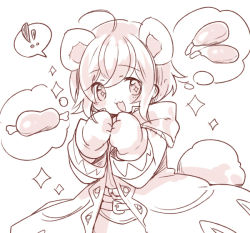 animal_ears boned_meat ebi_shamo fire_emblem fire_emblem:_kakusei food meat monochrome smile solo