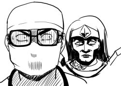 league_of_legends leng_wa_guo mask monochrome multiple_boys shen surgeon surgical_mask taric