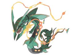 mega_pokemon mega_rayquaza official_art pokemon pokemon_(game) pokemon_oras rayquaza sugimori_ken
