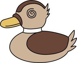 @_@ bird close-up duck emblem girls_und_panzer heita0524 highres no_humans simple_background white_background