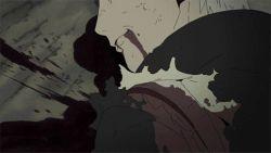 4boys animated animated_gif black_hair black_sclera blonde_hair blood demon facial_mark frog from_behind gamakichi horns juubi konohagakure_symbol male multiple_boys namikaze_minato naruto night ninja rinnegan short_hair smile spiked_hair surprised tails uchiha_obito uchiha_sasuke uzumaki_naruto white_hair wounded