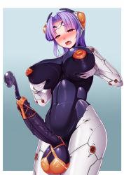 1girl bodysuit chracter_request full-package_futanari futanari tagme vuccha