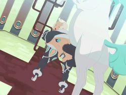 1girl anal animated animated_gif bestiality horse horse_penis kemono_kan_shi okiyo rush_rise_line