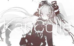 1girl amatsukaze_(kantai_collection) custom_(cus-tom) grey_hair kantai_collection school_uniform serafuku text twintails