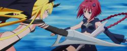 2girls highres konjiki_no_yami kurosaki_mea multiple_girls screencap sword to_love-ru to_love-ru_darkness weapon