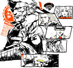 ! 3boys 3girls amanda_valenciano_libre banana bandanna big_boss dr._strangelove food fruit glasses huey huey_(metal_gear) huey_(metal_gear_solid) metal_gear_(series) metal_gear_solid_peace_walker multiple_boys multiple_girls naked_snake paz_ortega_andrade strangelove sunglasses