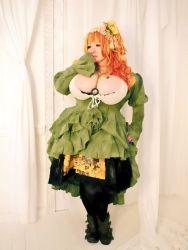 1girl asian breasts hoshima_mika huge_breasts photo plump solo